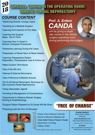 Robotic kidney cancer surgery course by Prof. Canda, 2018